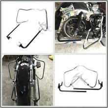 Satteltasche Halterung Schutzleiste Set Für Harley Touring Road King Electra Glide Ultra