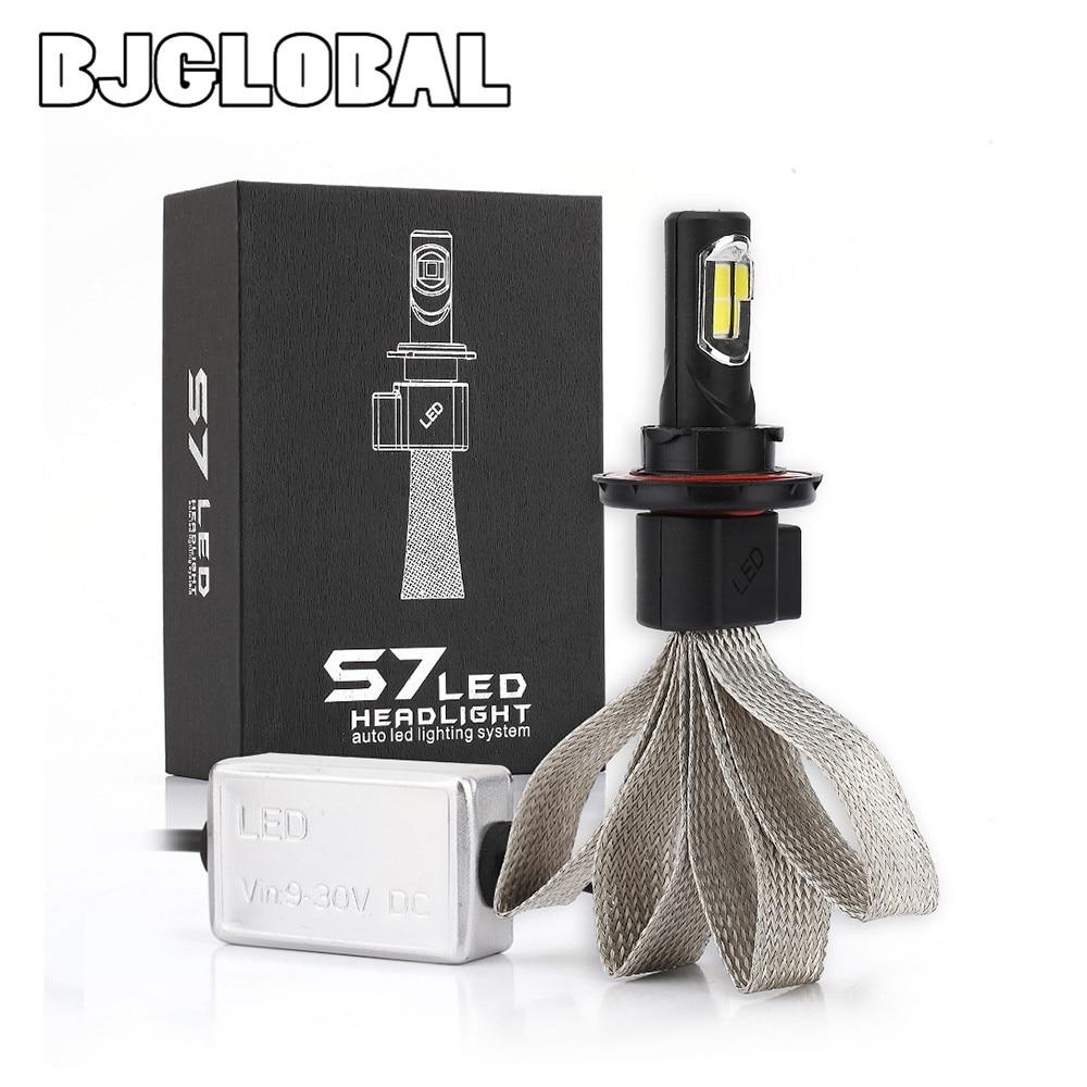 BJGLOBAL 2 pièces S7 voiture phare LED s voiture antibrouillard 72 W salut faisceau/36 W Lo faisceau H13 9008 phare LED antibrouillard voiture lumière lampe
