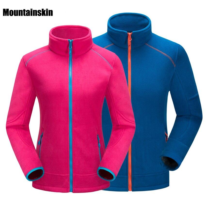 Mountainskin Men's Women's Winter Softshell Fleece Jackets Outdoor Sports Coats Hiking Trekking Skiing Male Female Jackets VA102
