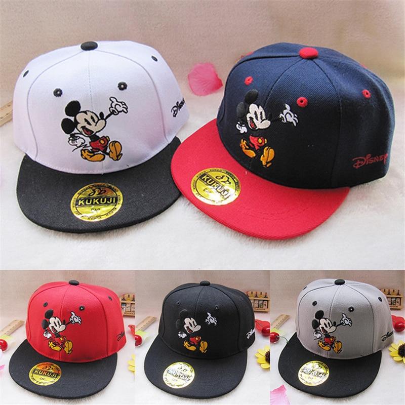 Children Cartoon Mickey Minnie Trolls Moana Mix Boy Girl Fashion Sun Hat Mario Casual Cosplay   Baseball     Cap   Children Gifts hats