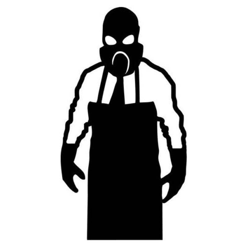 Exterior Accessories 7.7cm*14.2cm Gas Mask Meth Lab Cook Car-styling Car Sticker Vinyl Black/silver S3-5102