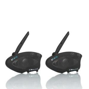 Image 1 - 2 個ミッドランド BTX2 オートバイの Bluetooth ヘルメットヘッドセットインターホン FM バイク BT インターホンハンズフリー通話 800 メートル
