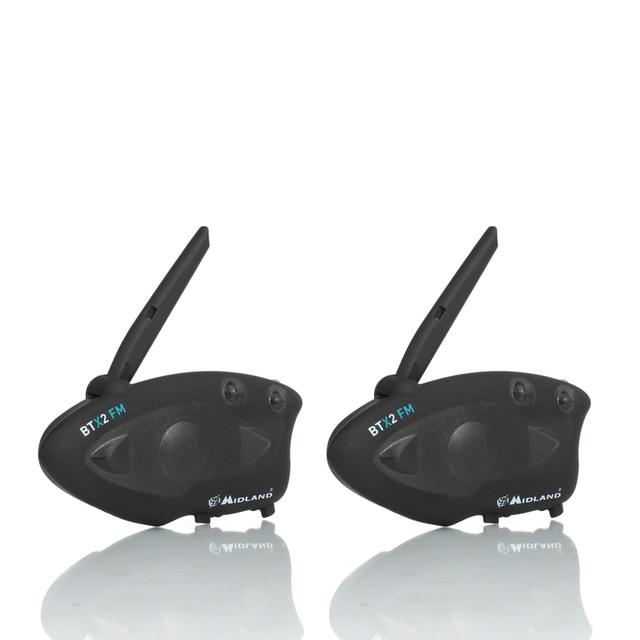 2 sztuk MIDLAND BTX2 kask motocyklowy z bluetooth zestaw słuchawkowy domofon FM motocykl BT domofon odbieranie bez użycia rąk 800M