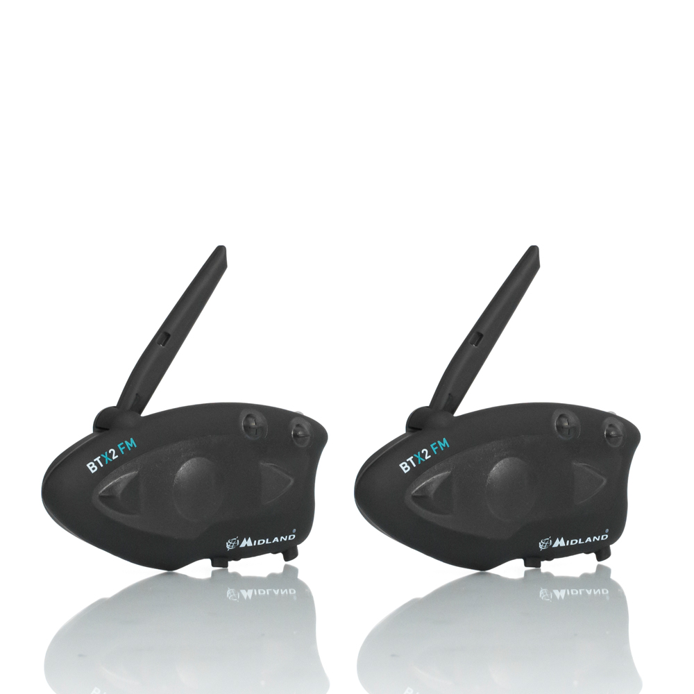 2pcs MIDLAND BTX2 Motorcycle Bluetooth Helmet Headset Interphone FM Motorbike BT Intercom Hands-free Calls 800M