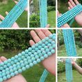 """AAA Natural Blue Amazonite 4-12mm Round Beads 15""""/38cm ,Beads For DIY Jewelry making !We provide mixed wholesale for all items!"""
