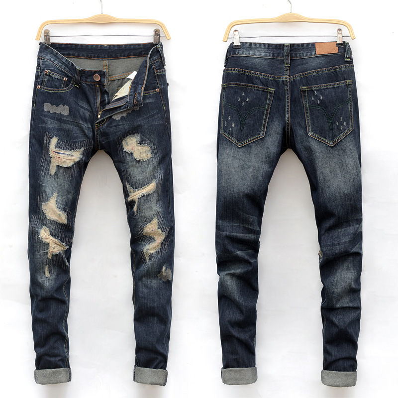 Online Get Cheap Bleached Distressed Jeans -Aliexpress.com