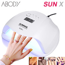 Abody 40/50/54W SUN X Lamp Nails Dryer For UV LED Gel Lamp For Manicure Drying Nail Polish Ice Lamp For Nail Manicure nail tool(China)