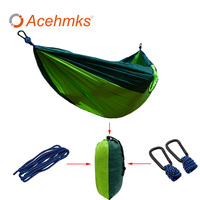 Acehmks 2 People Hiking Camping Hammock Tent Leisure Travel Garden Portable Outdoor Hanging Swing Bed Nylon