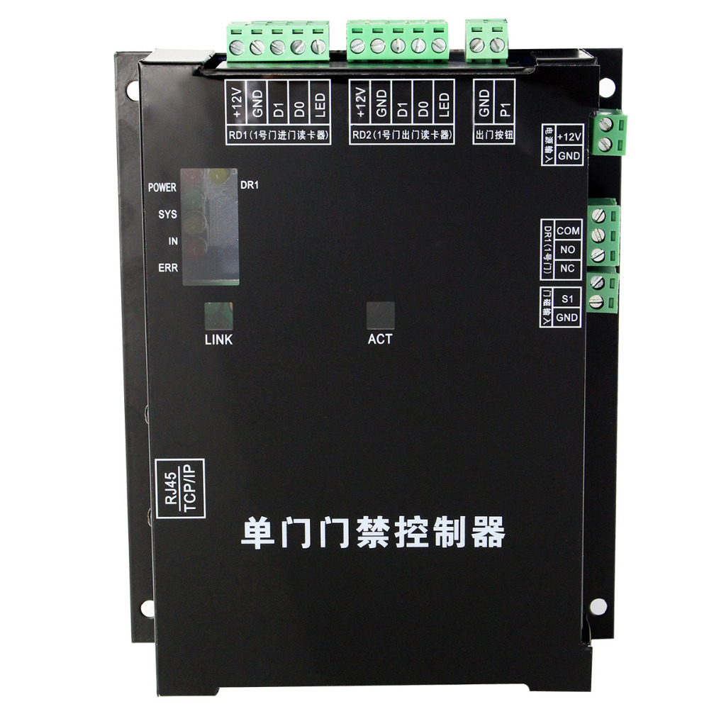 TCP/IP Access Control Panel LAN Interface Gate Access Controller 1 Door Access Control System WG26 F1301 biometric fingerprint access controller tcp ip fingerprint door access control reader