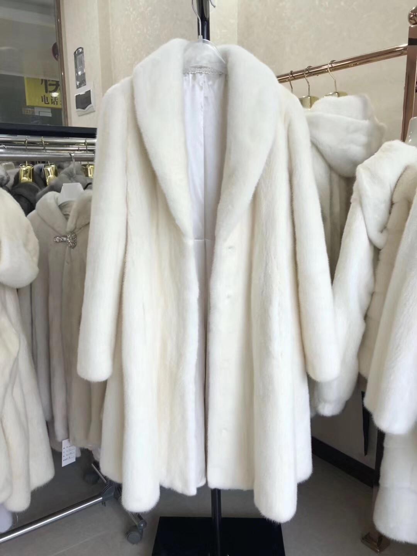 De Fourrure Long Nouveau Vison Femmes Naturel Manteau Picture À Mode Color Réel Outwear 2018 wUaqX6x