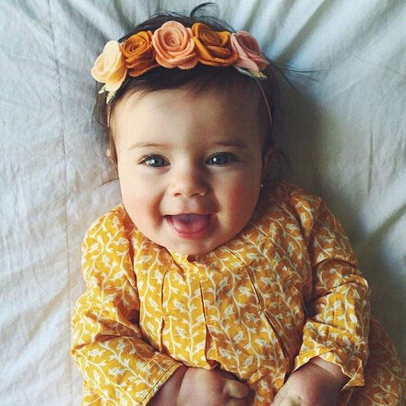 2018 New Cute Toddler Newborn Infant Baby Girl Flower Headband Birthday Holiday Hair Band   Headwear   Hair Accessories