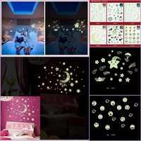 Księżyc gwiazda wszechświat planeta fluorescencji srebrzysty blask w ciemności Luminous Vinyl wymienny przedszkole dzieci Mural naklejki ścienne naklejka