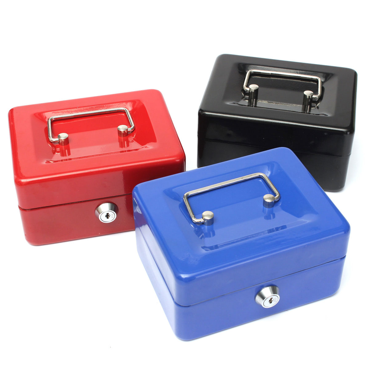 best price stainless steel petty cash money box security lock