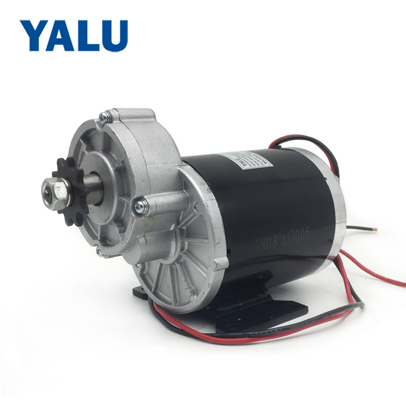 цена на YALU MY1020Z 600W 36V China Electric Motorized Motor E Trike Motor for Golf Cart Moped ATV Motorized Permanent Magnet DC Motor