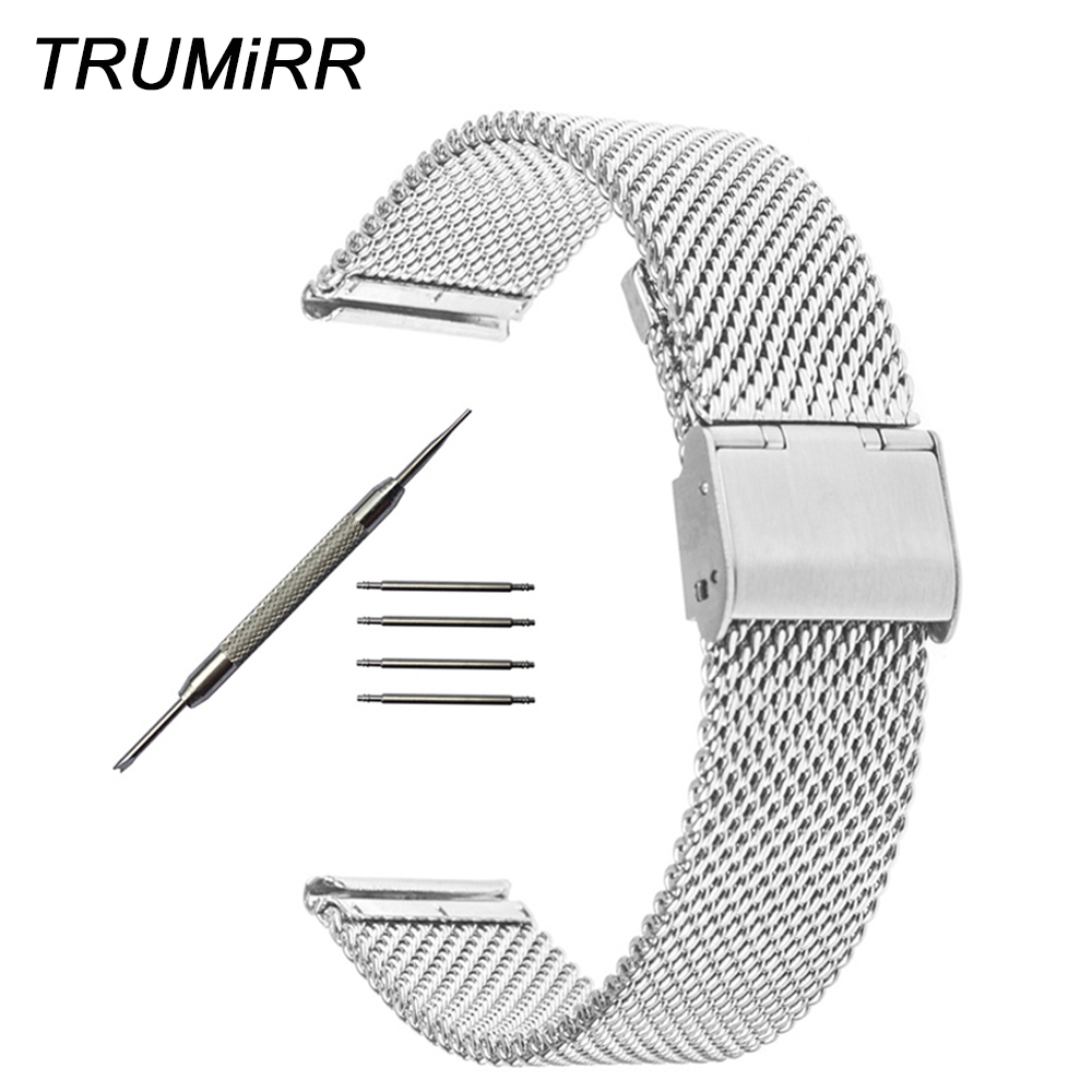 18mm 20mm 22mm 24mm Milanese Watchband for <font><b>Breitling</b></font> Titoni Michel Herbelin Watch Band Stainless Steel <font><b>Strap</b></font> Wrist Belt Bracelet image