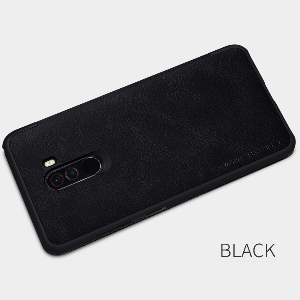 For Xiaomi Pocophone F1 Case NILLKIN Flip Leather Wallet Holder For Xiaomi Pocophone F1 Book Style Mobile Phone Cases in Flip Cases from Cellphones Telecommunications