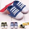 Envío Gratis 1 par de Bebé Zapatillas de deporte de Moda Zapatos Del Muchacho Primeros Caminante, Antideslizante Niño Zapatos suaves, bebé/Newborn pre-walker
