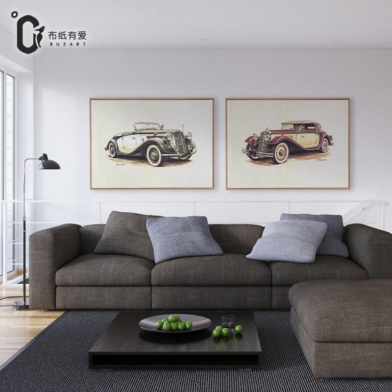 Vintage auto Art americký styl Obraz na plátně Obraz na zdi Obraz na plátně Obrazy do kanceláře bez rámu