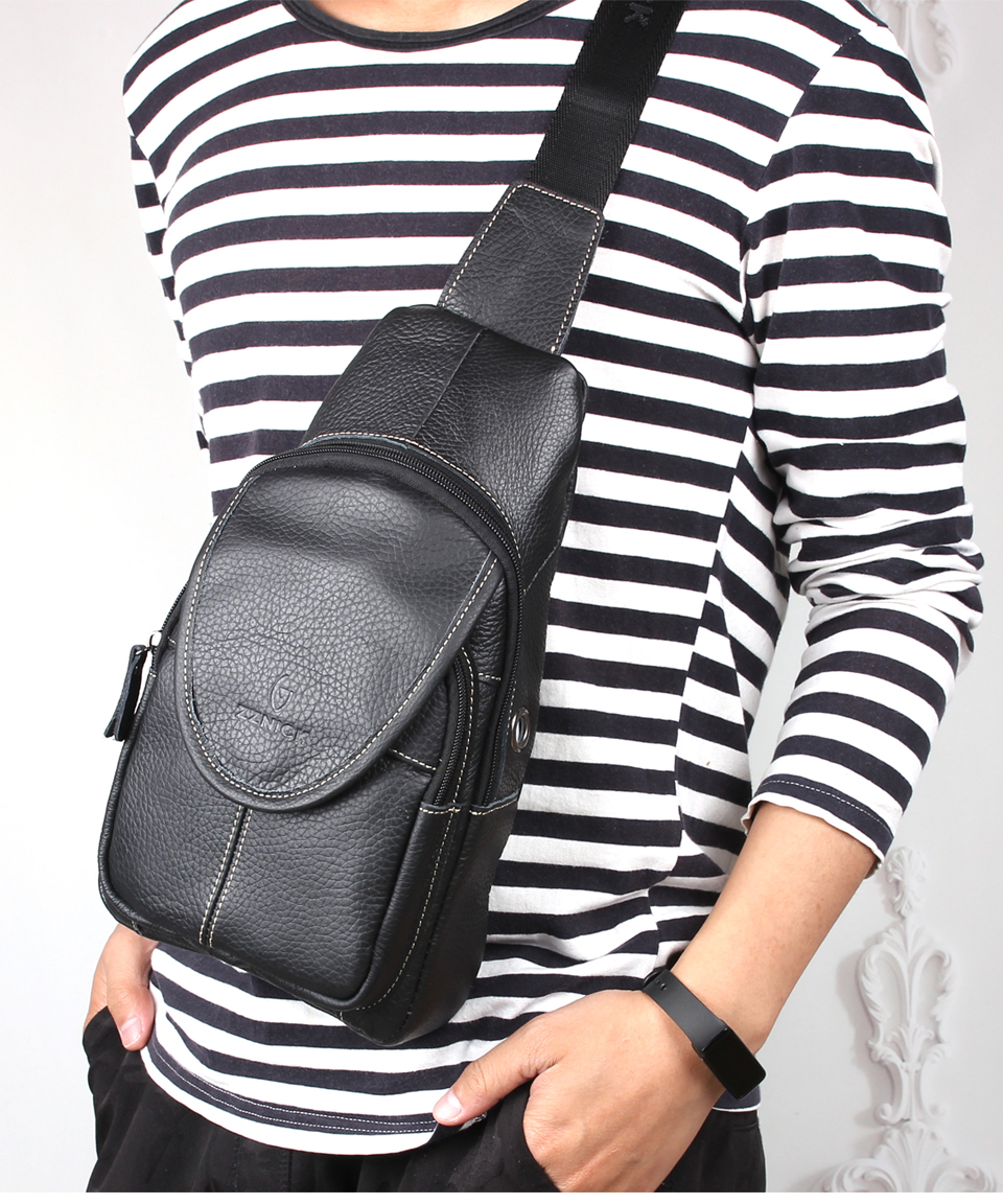 Leather Travel Men Crossbody Bags