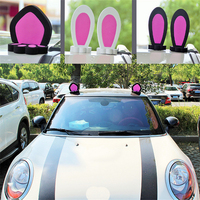 3D uniwersalny ucho kota ucho królika samochodu reflektor dachowy naklejki kalkomania dekoracje dla Mini akcesoria samochodowe do stylizacji w Naklejki samochodowe od Samochody i motocykle na