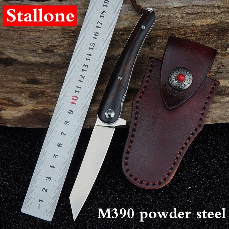 Stallone M390 pó de aço faca dobrável faca de sobrevivência ao ar livre faca de acampamento tático faca de caça faca de bolso de pesca ferramenta multi-