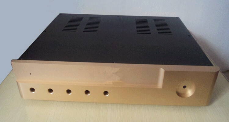 Full Aluminum amplifier chassis/Pre-amplifier/Rear Amp chassis/Balanced chassis/AMP case Enclosure / Box DIY(430*80*320mm) 3206 amplifier aluminum rounded chassis preamplifier dac amp case decoder tube amp enclosure box 320 76 250mm