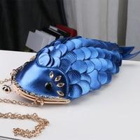 2019 Luxury Designer Evening Bags Gold Silver Fish Shape Clutch Women Party Purse for Women Messenger Bags Sac A Main A0336