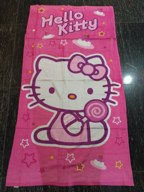 b914c49b9 2styles 75*150cm Cartoon Hello Kitty Towels baby bath towel Children Beach Bath  Towel Cartoon