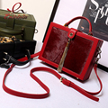 Vintage horse hair real leather metal tassel box modeling handbag ladies casual totes shoulder bag purse crossbody messenger bag