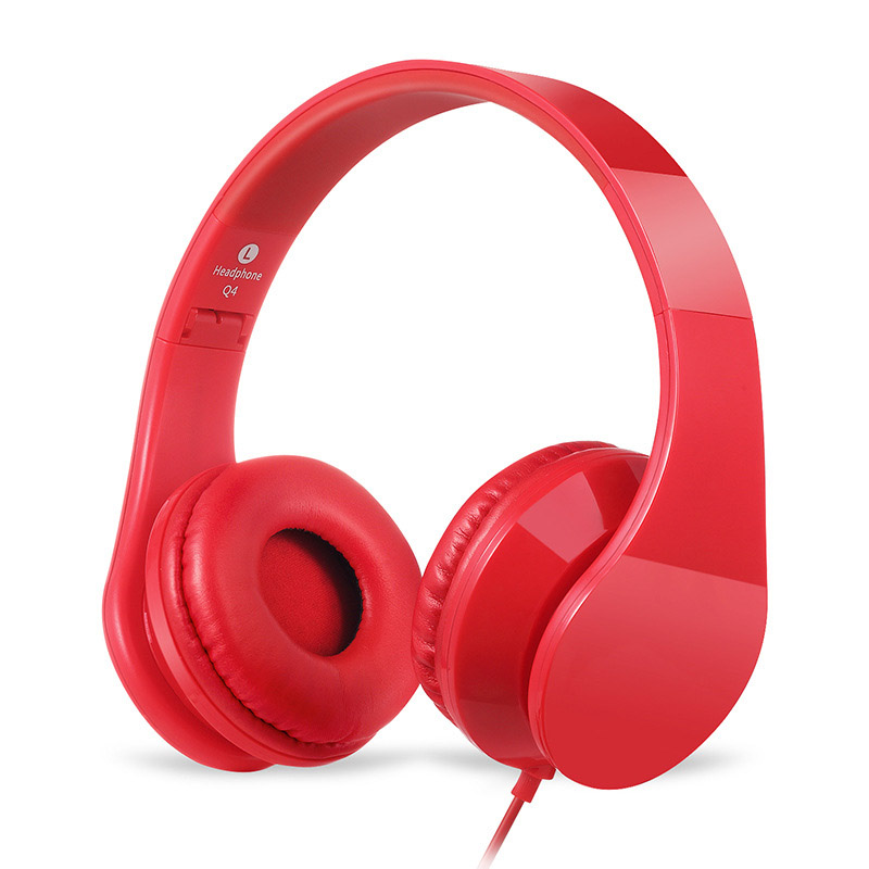Feeya Portable Foldable Casque Audio Wired Stereo Headphones Headband Headset Gamer Handsfree With Mic Cuffie Fone de ouvido
