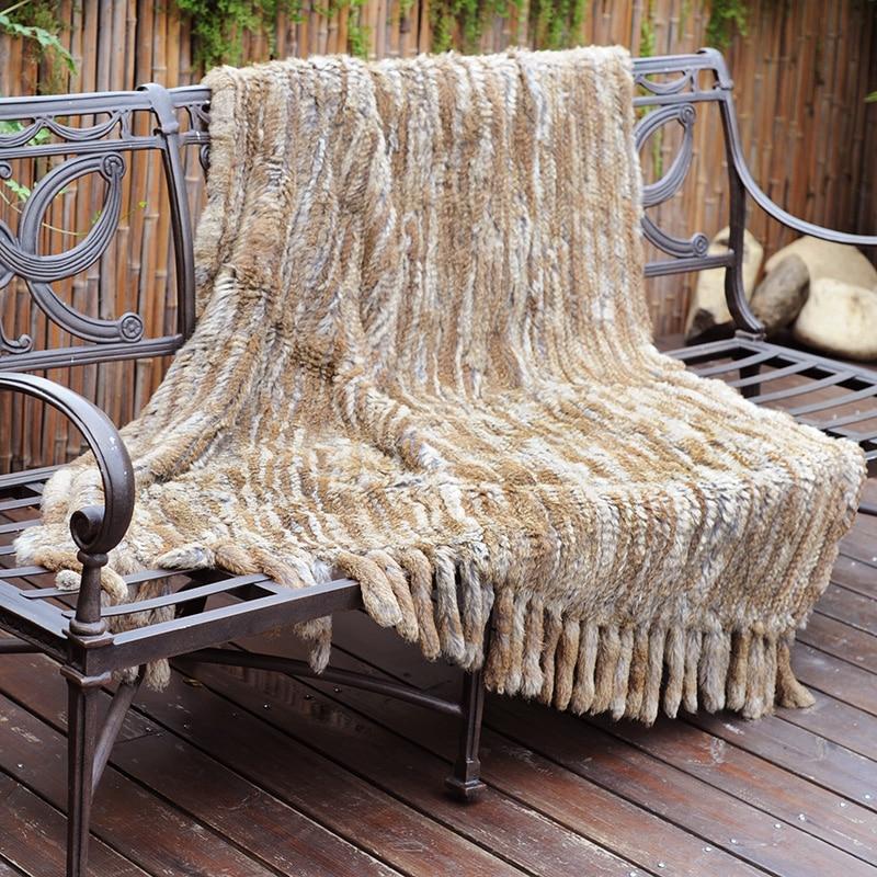 CX D 20G sofá decorativo para el hogar, manta de piel de conejo caliente - 6