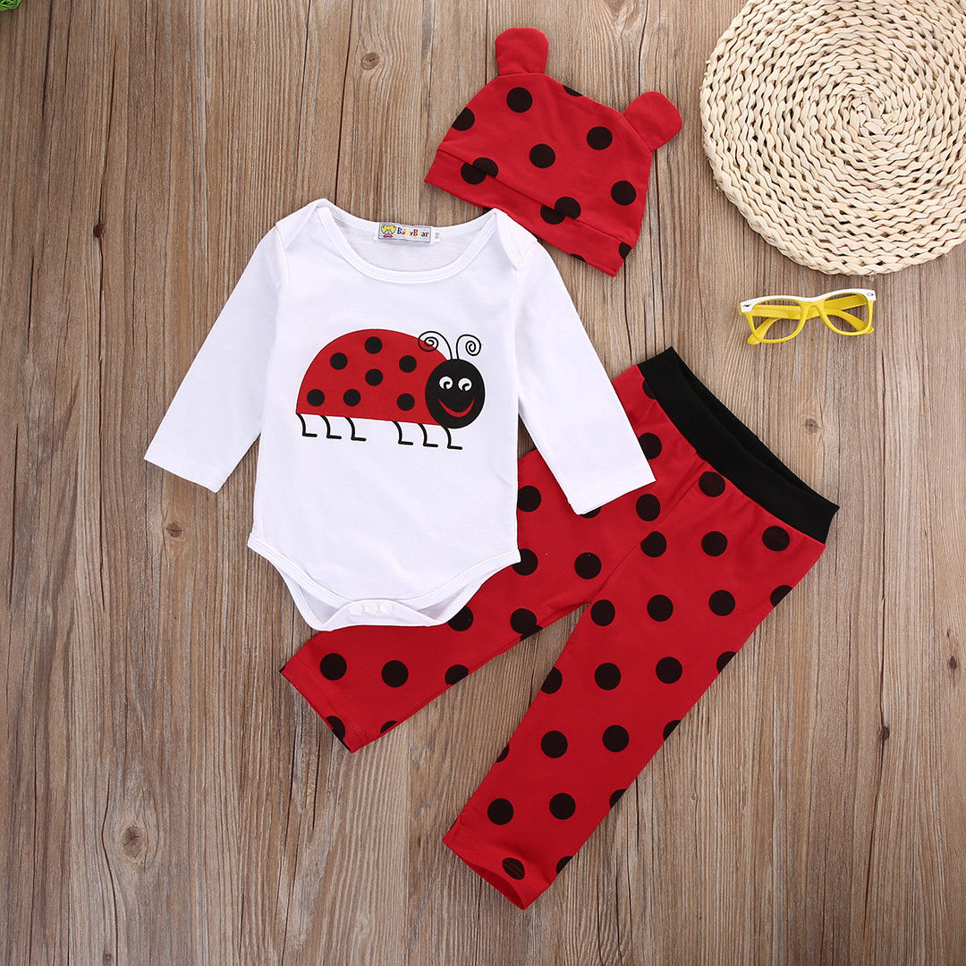 2017 Hot Cute Baby Boy Girl Clothes Newborn Long Sleeve Cotton Animal Bodysuit Romper Pant Hat 3pcs Outfit Infant  Clothing Set delicate hot cute animal newborn girl boy soft sole crib toddler shoes canvas sneaker for 0 12m m22