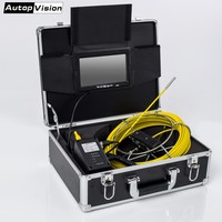 DHL Free WP70 50M Cable Underwater mini camera 7 TFT LCD 6.5/17/23mm Sewer Pipeline Endoscope Inspection Snake DVR Camera