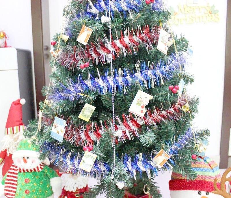 fiesta de cumpleaos decoracin de la boda cintas ornamento del rbol de navidad guirnalda de navidad a rayas superior deco