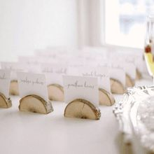 10pcs Rustic Natural Wood Table Name Number Place Card Holder Memo Note Photo Picture Clip Decor Wedding Party