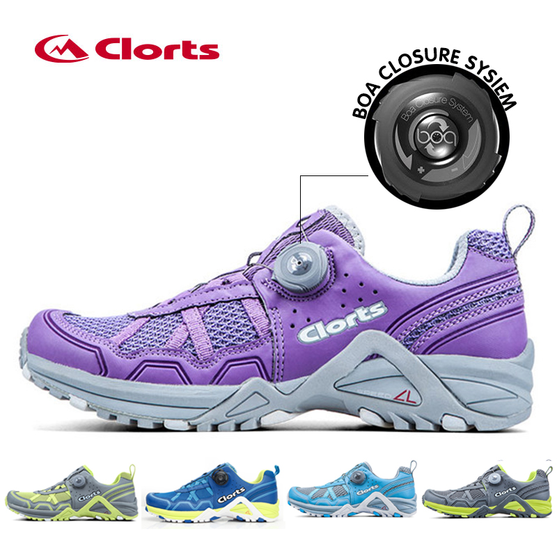 2016 Clorts Women Running Shoes Lightweight BOA Lacing Outdoor Shoes Breathable Sport Running Sneakers for Women 3F013  2017 clorts men running shoes boa fast lacing lightweight outdoor sport shoes breathable mesh upper for men free shipping 3f013b