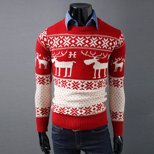 Free shipping new fashion long sleeve 2017 winter korean mens sweaters and pullovers man o-neck onta christmas designer sweater