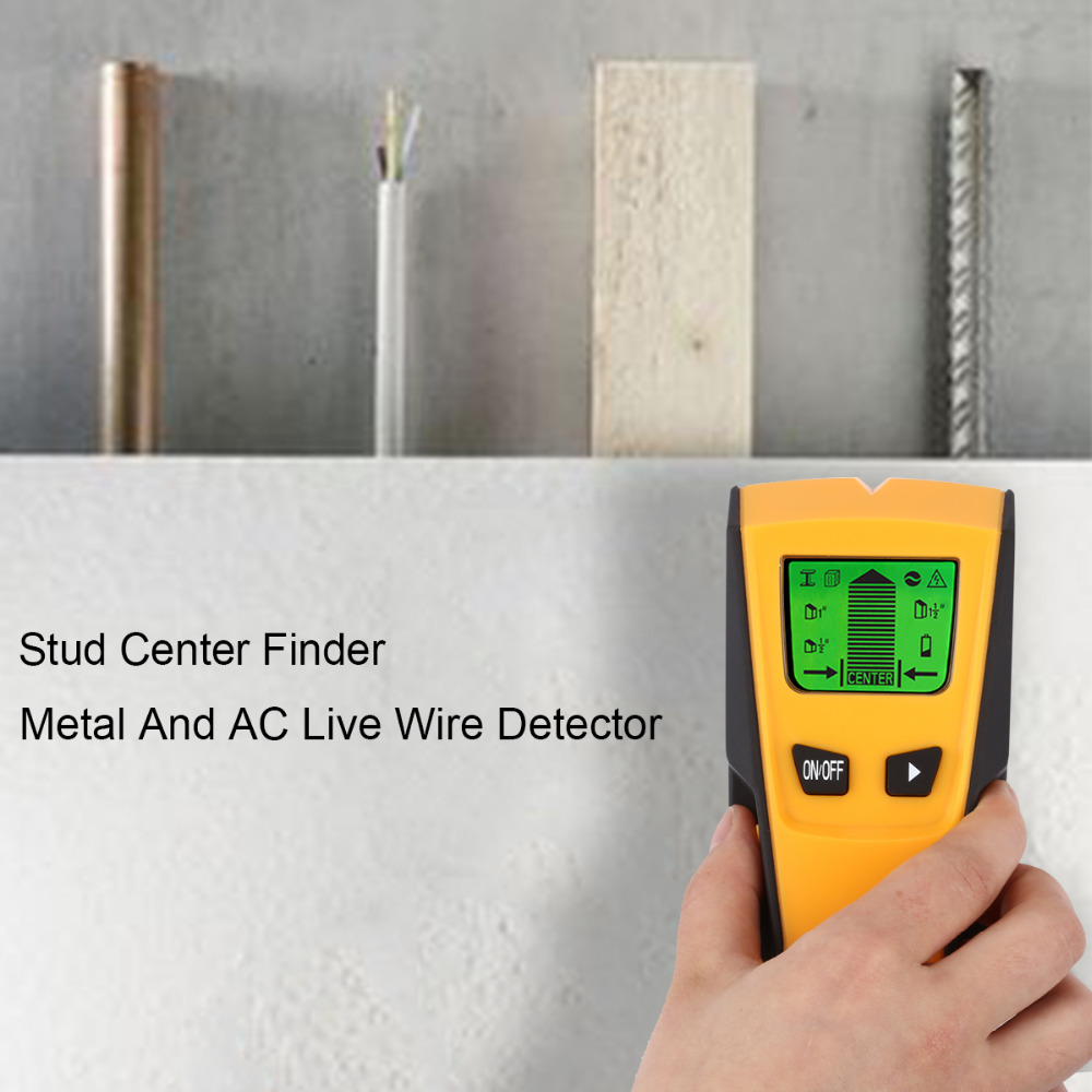 Floureon 3 In1 Metal Detectors Stud Center Finder Metal and AC live ...