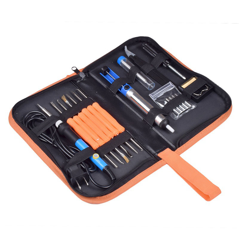110V/220V 60W 7 in 1 Electric Soldering Iron Kit Temperature Adjustable Tweezers Solder Wire Portable Welding Repair Tool ws 505 eu plug 220v 100w 10 inch external heat type electric heating welding soldering iron tool