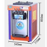 220V Desktop Commercial Ice Cream Machine Automatic Small Type Soft Ice Cream Cone Machine For Ice Cream Business Shop