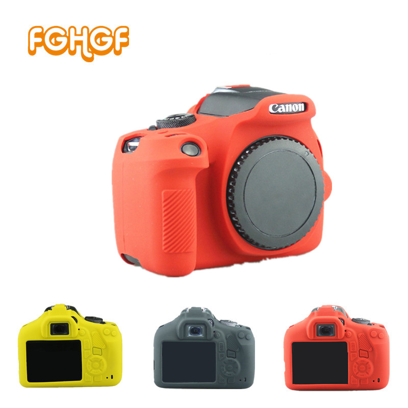 FGHGF Silicone Armor Skin Case Body Cover Protector for Canon EOS 1300D Rebel T6 Kiss X80 Digital Camera