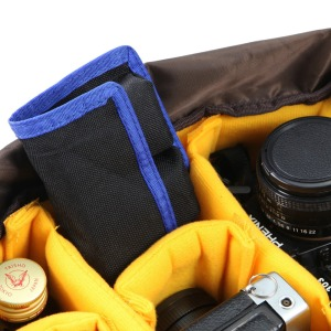 Image 5 - Meking Lithium Battery Storage Pouch for Canon LP E6 LP E8 Sony NP FW50 EN EL14 EN EL15 4 Pockets Waterproofed Nylon Bag