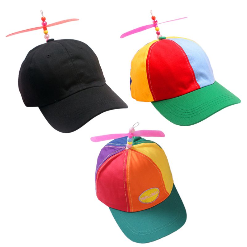 Adult Kid Summer Helicopter Propeller   Baseball     Cap   Colorful Patchwork Dragonfly Beaded Cosplay Party Adjustable Snapback Dad Hat