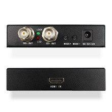 HDMI ZU 2 port 3G/HD/SD SDI SDI Scaler Konverter Unterstützung 720P/1080P