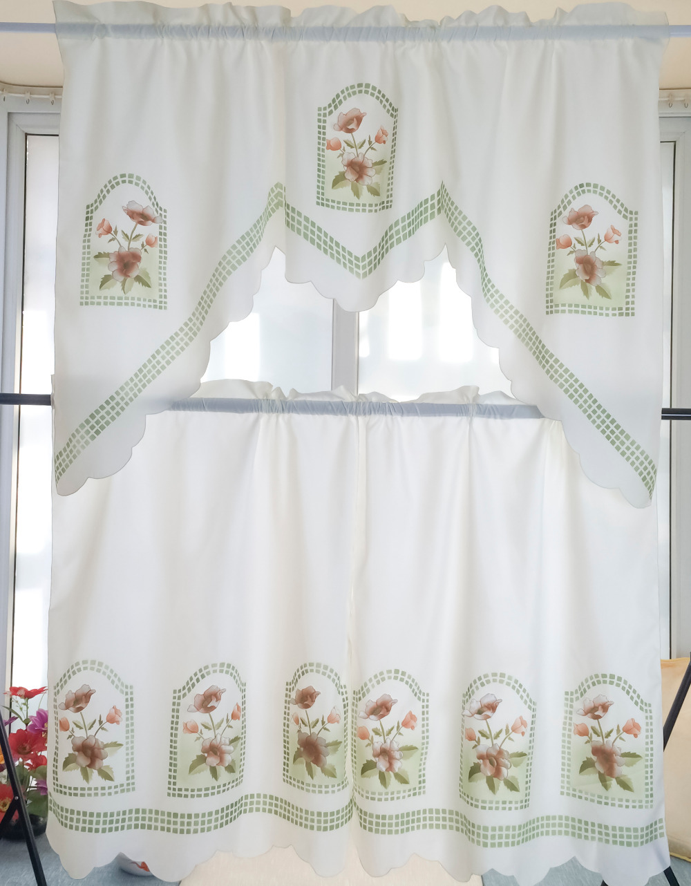 ( 1 set ) Europe Arts Embroidered cloth Tube curtains Decorative Kitchen Cafe , Door Living room Bedroom