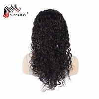 Бразильские виргинские волосы с волнистыми кружевами спереди человеческие волосы парики для черных женщин ремешки бесклеевая крышка пред