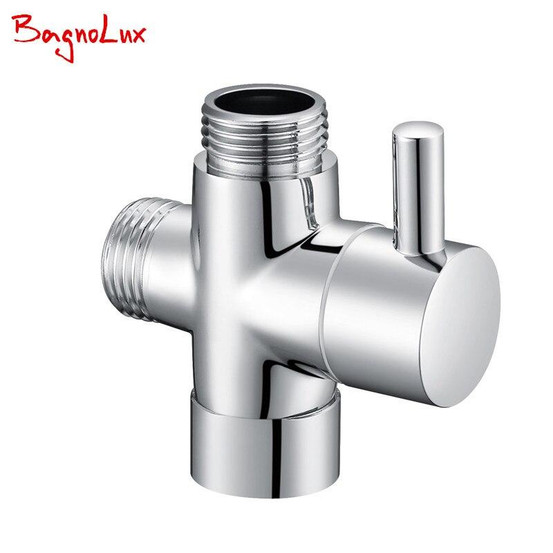 G1/2 Multi-função de Interruptor de Desvio De 3 Vias Com Shut-off Válvula para Bidé Sanita Pulverizador Ou Torneira do chuveiro T-Adaptador de Válvula 728 T
