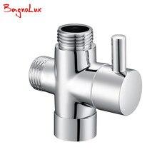 G1/2 Многофункциональный 3 Way переключатель с запорного клапана переключатель для туалета биде или душа t-адаптер клапан 728T