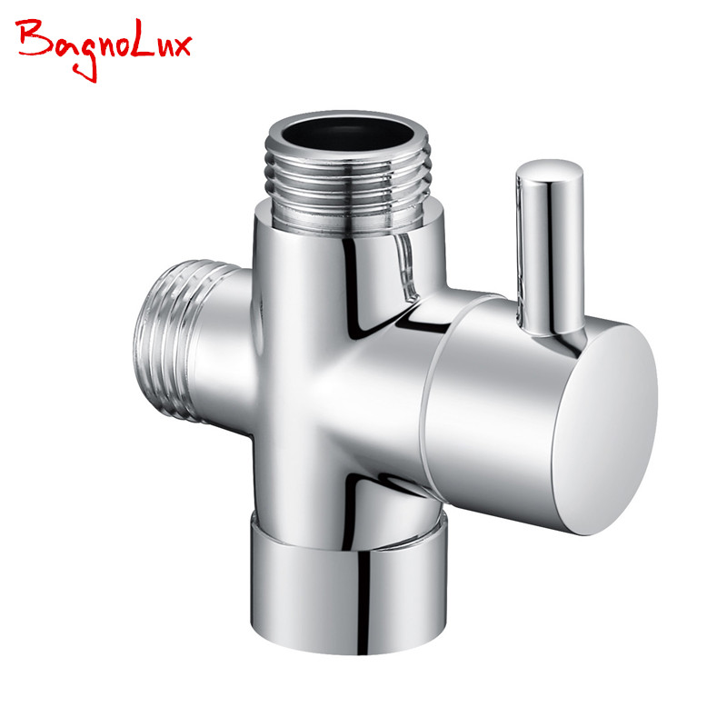 G1/2 Multi-function 3 Way Diverter With Shut-off Valve Switch For Toilet Bidet Sprayer Or Shower Faucet T- Adapter Valve 728T