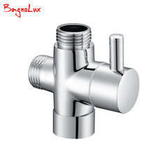 G1/2 Multi-function 3 Way Diverter With Shut-off Valve Switch for Toilet Bidet Sprayer Or Shower Faucet T- Adapter Valve 728T